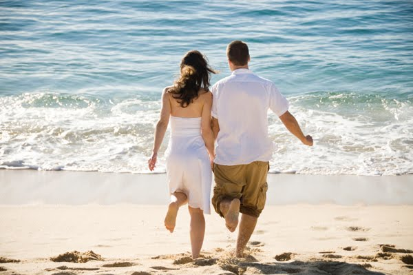 Walking on Beach - Goa honeymoon