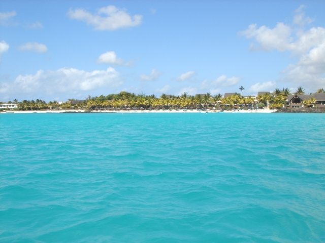 Grand Baie, view from the offshore