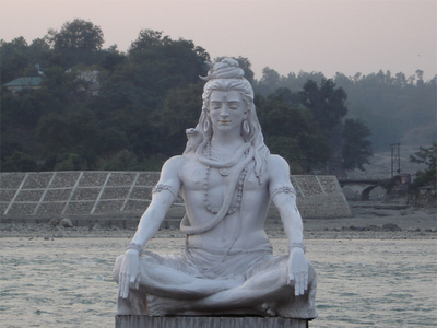Shiva Idol in Rishikesh on the banks of River Ganga